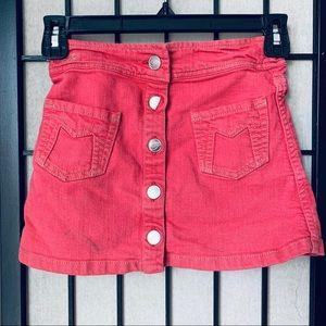 Little Marc Jacobs red button up skirt sz 8